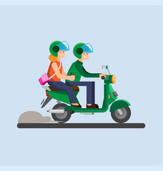 Online transportation biker motorcycle icon vector