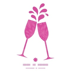 pink abstract flowers texture toasting wine vector image