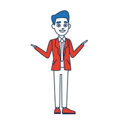 politician man avatar campaign election democracy vector image