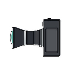 Professional camera photo lens equipment vector