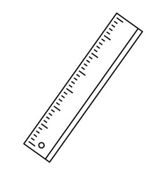 Ruler icon outline style vector