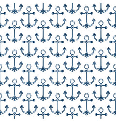 ship anchor background in the marine style vector image