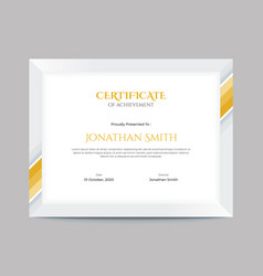 simple gold geometric shapes border certificate vector image