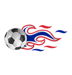 soccer ball on fire with france and netherlands vector image