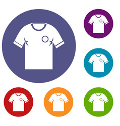 soccer shirt icons set vector image