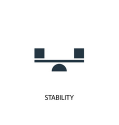Stability icon simple element vector