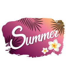Summer with blot vector