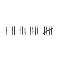 Tally marks prison wall vector