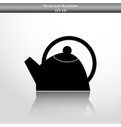 tea pot web icon vector image