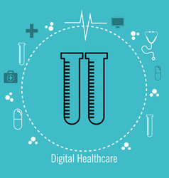 Test tube lab services medical healthcare isolated vector