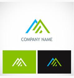 triangle line roof company logo vector image