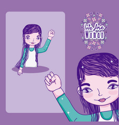 we are women cartoons vector image