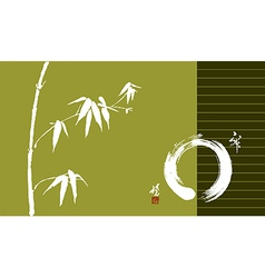 Zen circle and bamboo vector