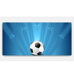 Bright abstract blue soccer background vector image vector image