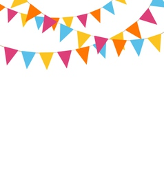 buntings isolated on white vector image vector image
