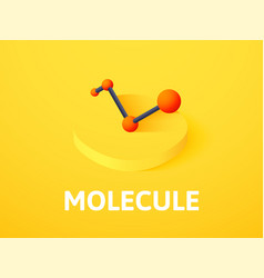 molecule isometric icon isolated on color vector image vector image