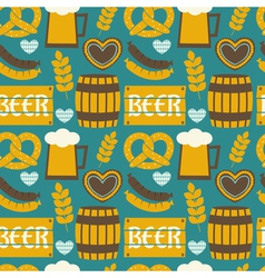 seamless repeat oktoberfest party pattern vector image