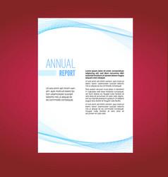 beautiful futuristic swoosh wave business leaflet vector image vector image