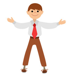 boy actor the gesture of the hands of applause vector image