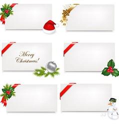 Christmas Blank Gift Tag Set vector image vector image