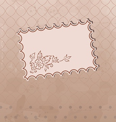 Grunge old fashioned background vector image vector image