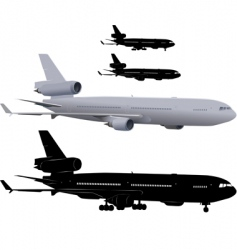 passenger airliner vector image
