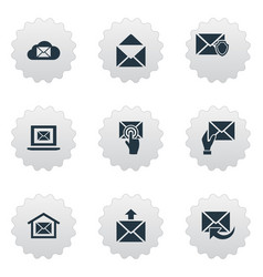 set of simple mailing icons elements laptop vector image vector image