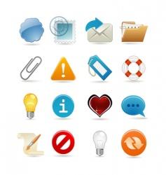 sixteen universal icons vector image vector image
