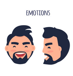 happy emotion face from different angles vector image
