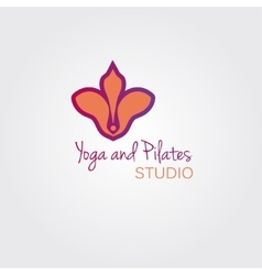 Lotus flower logo template concept Logo sign for vector image vector image