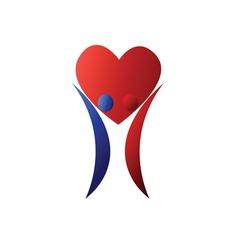 Loving couple symbol vector image