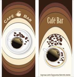 Menu for restaurant cafe bar coffeehouse vector image