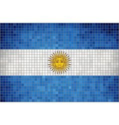 Mosaic flag of Argentina vector image