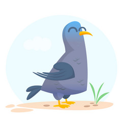 cartoon pigeon isolated vector image vector image