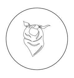 Cowboy scarf icon outline singe western icon from vector