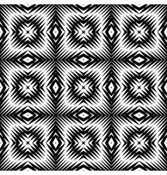 Design seamless monochrome square pattern vector image