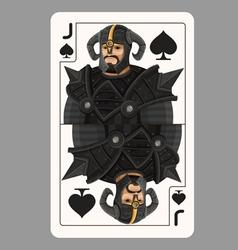 Jack spades playing card vector image vector image