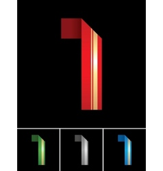 Numeral of paper tape - 1 vector image