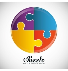 Puzzle pieces and big ideas vector image vector image