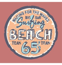 Surfing beach vector image