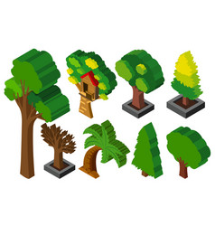 3d design for many types of trees vector image