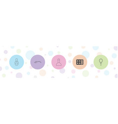 5 makeup icons vector