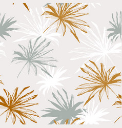 abstract tropical foliage background in retro vector image