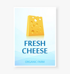 ad banner with fresh cheese icon vector image