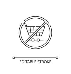 Anti consumerism linear icon vector