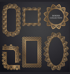 art-deco ornamental frame vector image