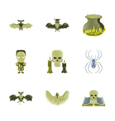 Assembly flat shading style icon book skull ghost vector