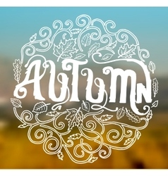 Autumn circle art decoration ornament background vector