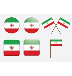badges with flag of Iran vector image