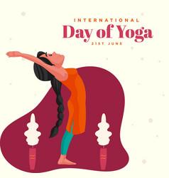 Banner design of yoga day vector